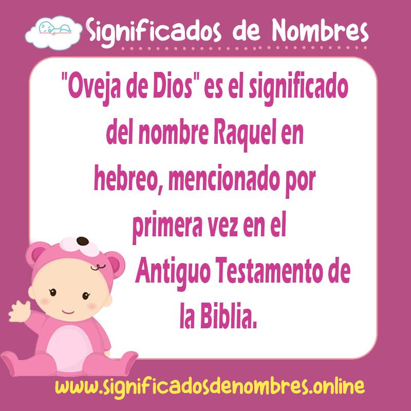 ▷ Significado de Raquel ????【 APODOS, ORIGEN Y MÁS 】